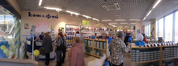 Открытие фирменного магазина «Котофей» в Люберцах