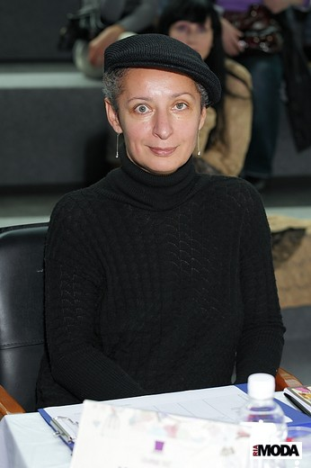 Людмила Норсоян, дизайнер трикотажной марки Liudmila Norsoyan. Фотография Натальи Бухониной,  ИА «РИА Мода»
