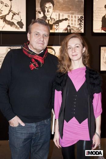 Жан-Шарль де Кастельбажак и Алевтина Стручкова. Фотография Ирины Щелкуновой, ИА «РИА Мода»