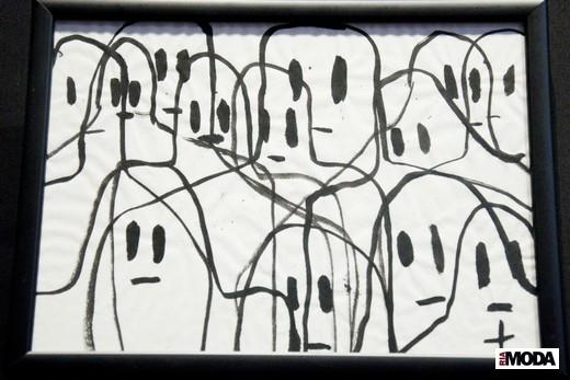 Рисунок Жана-Шарля де Кастельбажака. Фотография Ирины Щелкуновой, ИА «РИА Мода»