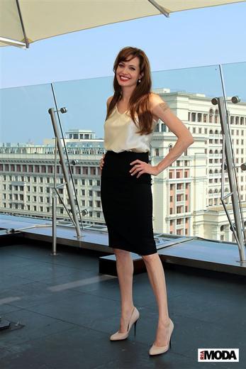 20100725 Анджелина Джоли в отеле The Ritz-Carlton (Москва). Фотография Натальи Лапиной, ИА «РИА МОДА».