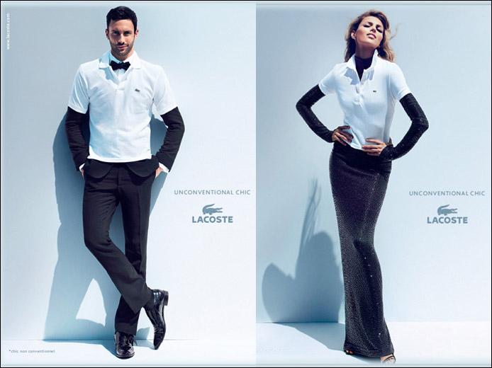 Кампания UnconventionalChic с моделями Аней Рубик и НоаМайлзом. Фотографии предоставлены компанией Lacoste S.A.