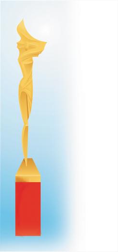"""Эскиз статуэтки """"Подиум"""" Людмилы Карнауховой, дизайнера из Перми. Предоставлено организатороми."""
