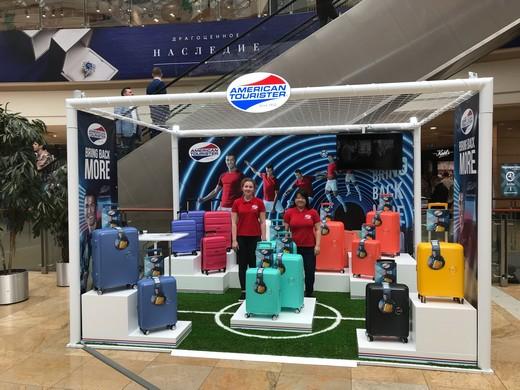 Открытие pop-up stores. Фотография предоставлена брендом American Tourister