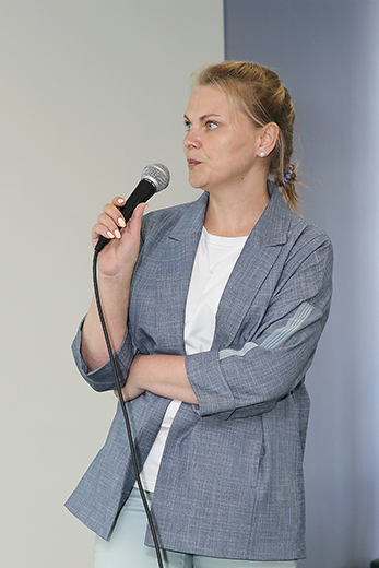 Елена Mельникова. Фотография Натальи Бухониной, предоставлена организаторами выставки Sport Casual Moscow