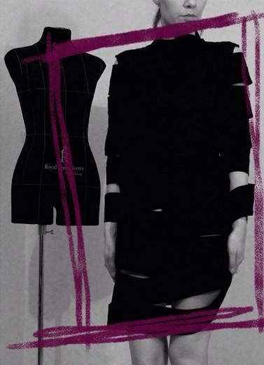 Фотосъемка капсульной коллекции Леси Завьяловой из тканей Вулкан-А с манекеном Royal Dress forms. Фотография предоставлена дизайнером