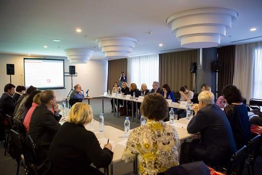 Круглый стол «Профессиональные кадры в легкой промышленности России». Фотография предоставлена АО «Текстильэкспо»