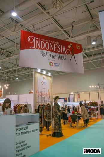 Стенд индонезийских участников CPM. Фотография Ирины Щелкуновой, ИА «РИА Мода»