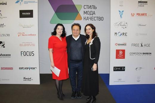 Светлана Мельниченко (слева). Джимми Балдинини (в центре). Фотогрпфия предоставлена организаторами конкурса «Стиль. Мода. Качество»